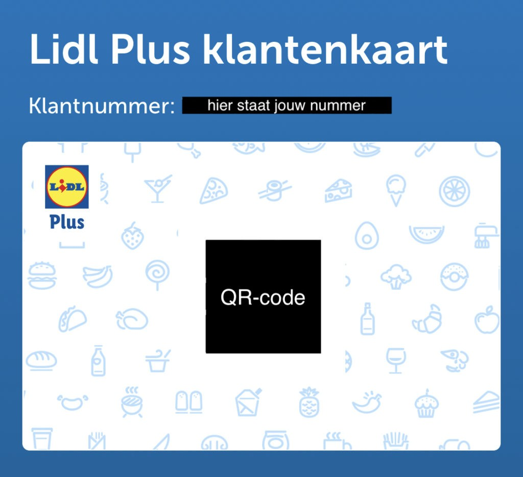 Lidl Plus Kaart QR-code in de Lidl Plus App
