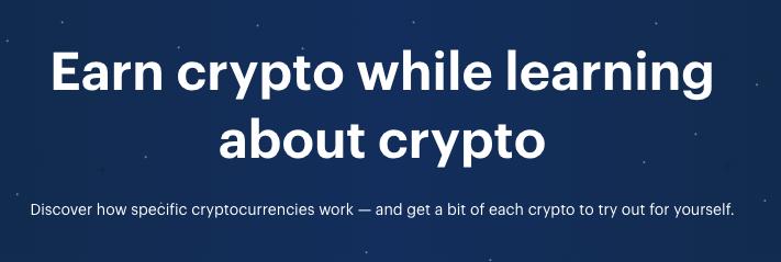 Gratis crypto verdienen via Coinbase Earn door antwoorden op vragen te geven