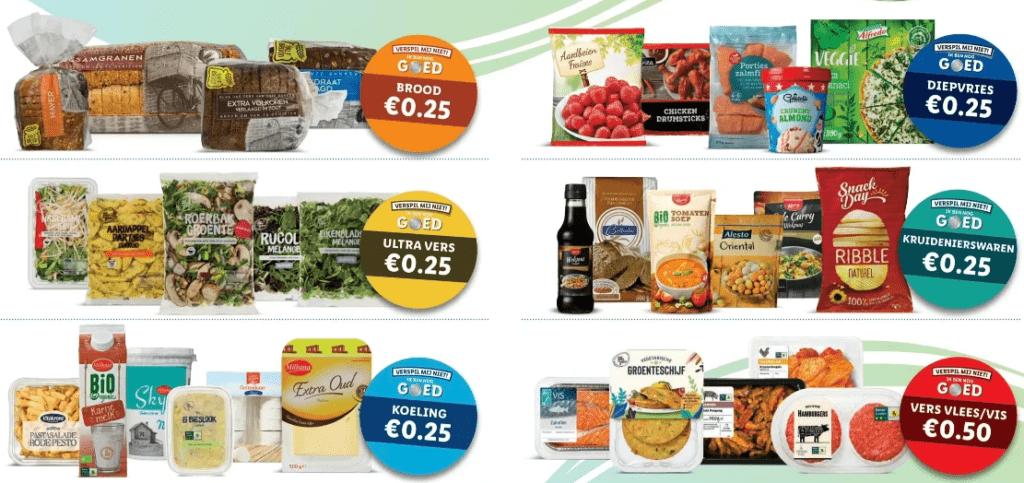 Overzicht super goedkoop boodschappen doen bij de Lidl voor 'Samen Tegen Voedsel verspilling'