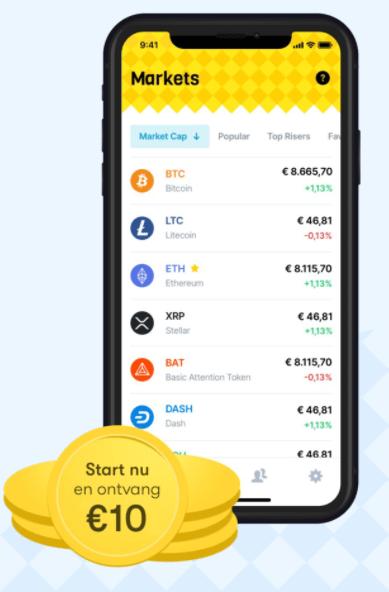 10 euro cadeau bij Coinbase alternatief Bloxx