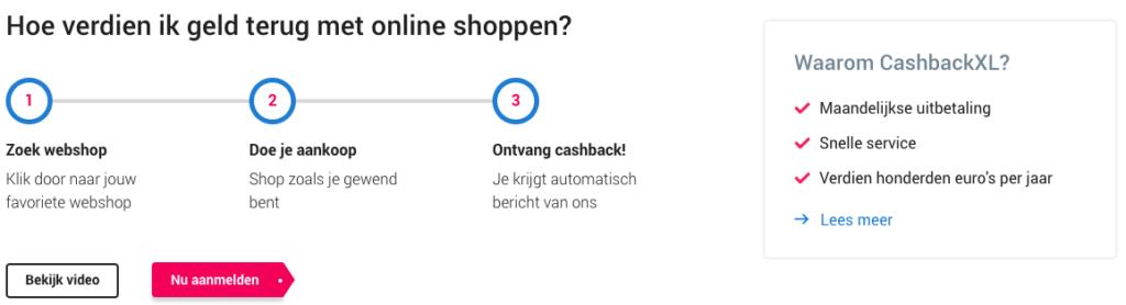 Aanmelden bij CashbackXL om gratis korting te krijgen op de zorgverzekering