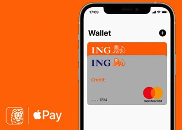 ING creditcard via Apple Pay