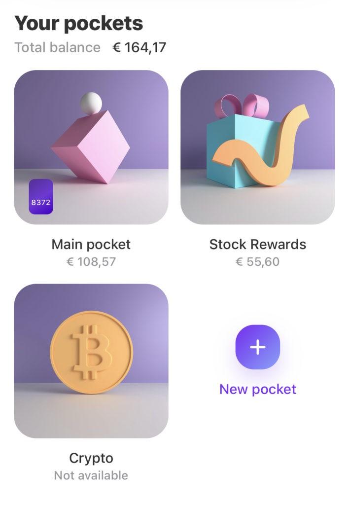 De crypto pocket is succesvol aangemaakt in de Vivid Money app!